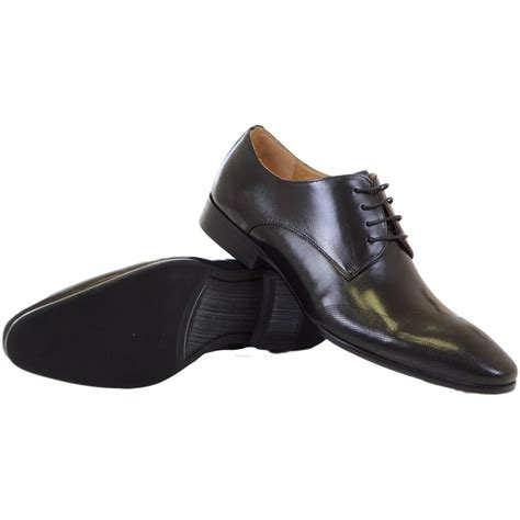 paolo vandini shoes wolvey leather lace up black shoes