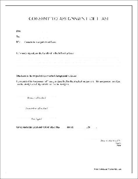 Lease Permission Letter Free Notarized Consent To Assignment Of Lease From Formville