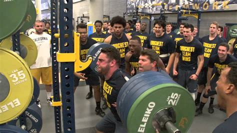 weight room workouts for football players cal football strength and conditioning testing week