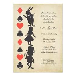 alice in wonderland cards tea party birthday 5 quot x 7