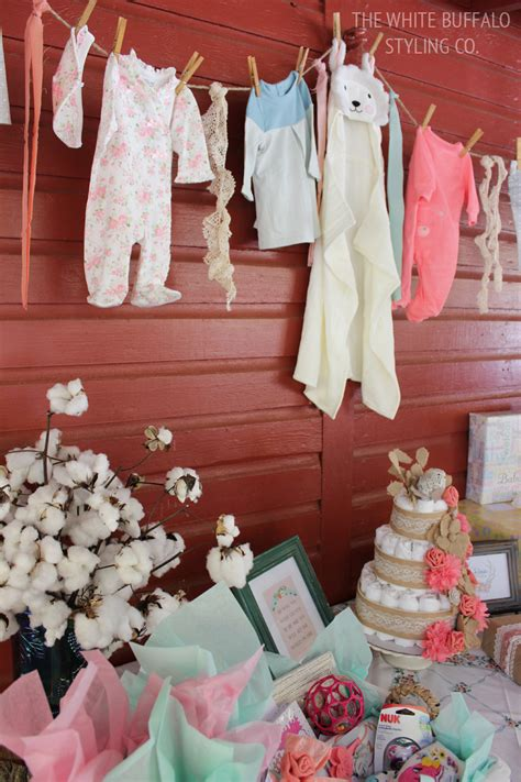baby shower gift table ideas vintage rustic fall baby shower