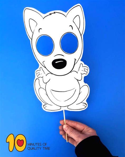 kangaroo paper mask  minutes  quality time