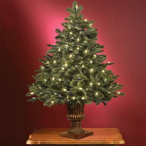 18 inch battery lit christmas tree pre decorated artificial tabletop trees psoriasisguru