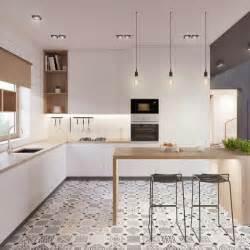 Charmant Credence Cuisine Noir Et Blanc #5: les-tendances-pour-2017-mod%C3%A8les-de-cuisines-modernes-sol-en-carrelage-blanc-noir.jpg