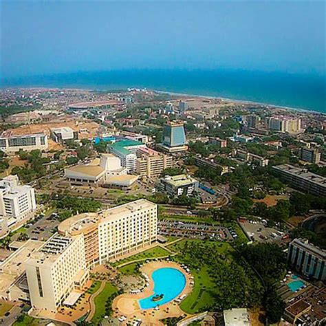 google map of the city of accra, ghana nations online