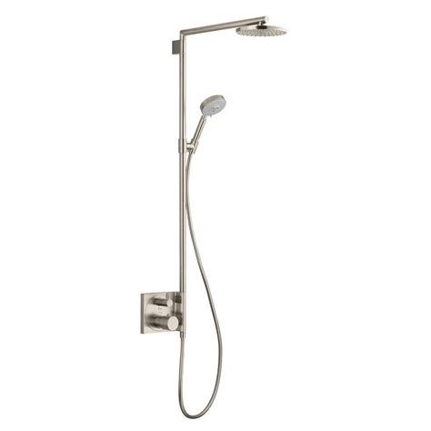 Brushed Nickel Shower by Hansgrohe Raindance S 180 Shower System In Brushed Nickel