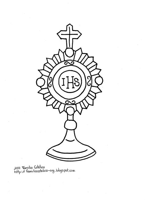 Monstrance Coloring Page Images Frompo 1 Monstrance Coloring Page
