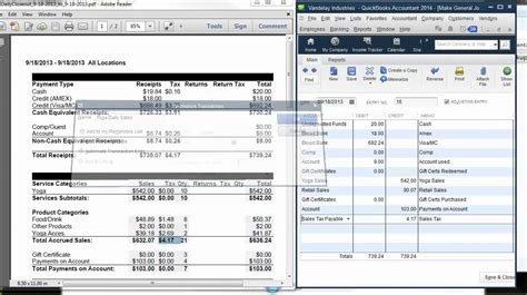Daily Sales Report Quickbooks by Quickbooks Tip Mindbody Quickbooks Recording Daily Sales
