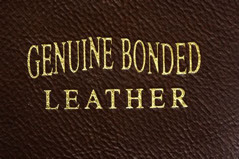 what is bonded leather ebay