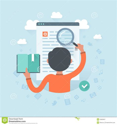 Search For Information On Information Search Stock Vector Image Of Magnifying 53829637