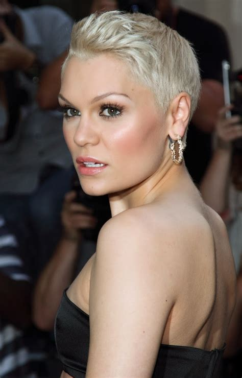 jessie j bleach blonde pixie hairstyle hair buzz by