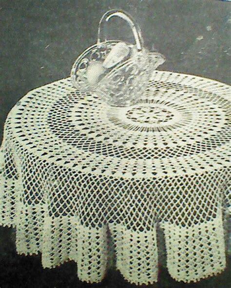 pattern crochet round tablecloth vintage crocheted round tablecloth pattern by mamaspatterns