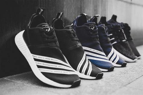 Adidas Slip On X Mountaineering Black Striped White Premium Original now available white mountaineering x adidas nmd r2