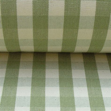 green check upholstery fabric cotton check sage green