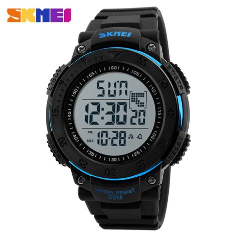 Jam Tangan Pria Digitec Dg 3028 Black List Gold 2 skmei jam tangan digital pria dg1237 black blue jakartanotebook
