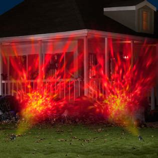 gemmy halloween projection lights gemmy halloween fire and ice projection spotlight red