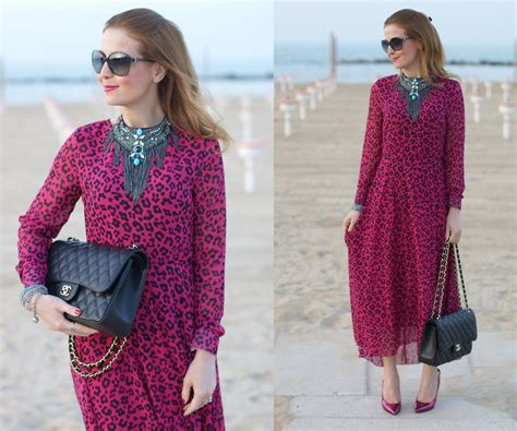 Kacamata Chanel 2 Leopard vale romwe leopard print chiffon dress chanel 2 55 simonab bijoux statement necklace