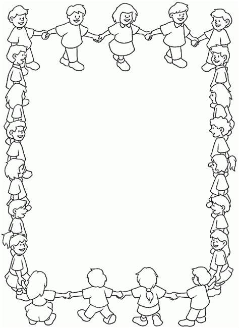 cornici foto gratis italiano cornice bambini girotondo disegno da colorare gratis