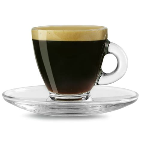 Glass Coffee Cup entertain espresso cups saucers 2 8oz 80ml