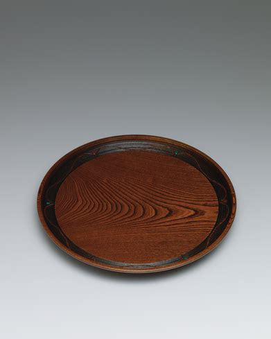 Arc Decoration by Tray Of Zelkova Wood With Arc Decoration Gallery Japan