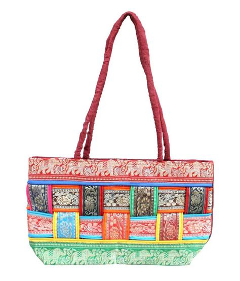 Fathers Day Freebie Free Designer Bag With Purchase by Buy Naysha Arts Multi Zip Rajasthani Design Bag At Best