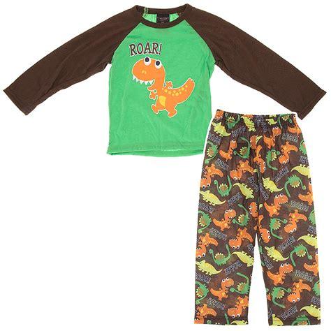 dinosaur pajamas for brown dinosaur roar pajamas for toddler boys