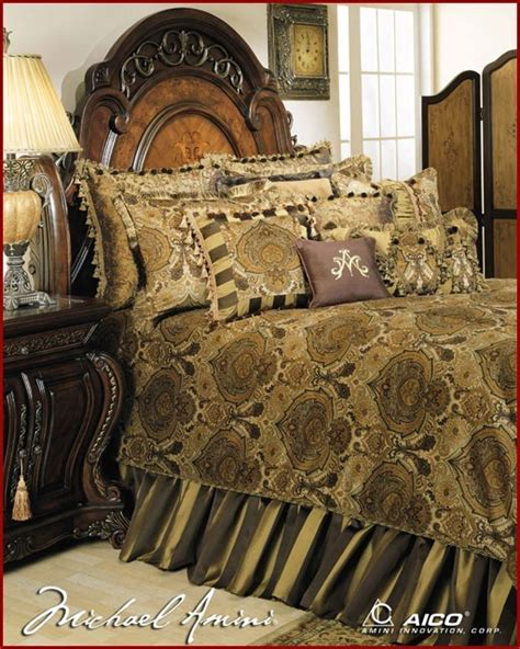 aico furniture pontevedra luxury bedding set ai pntvda