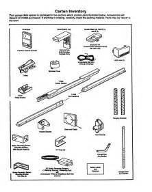 Overhead Door Parts List Inventory Diagram Parts List For Model 13953675srt1 Craftsman Parts Garage Door Opener