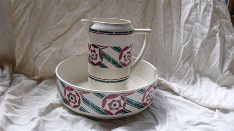 bathroom jug and bowl set badonviller antique toilet set bathroom pitcher large