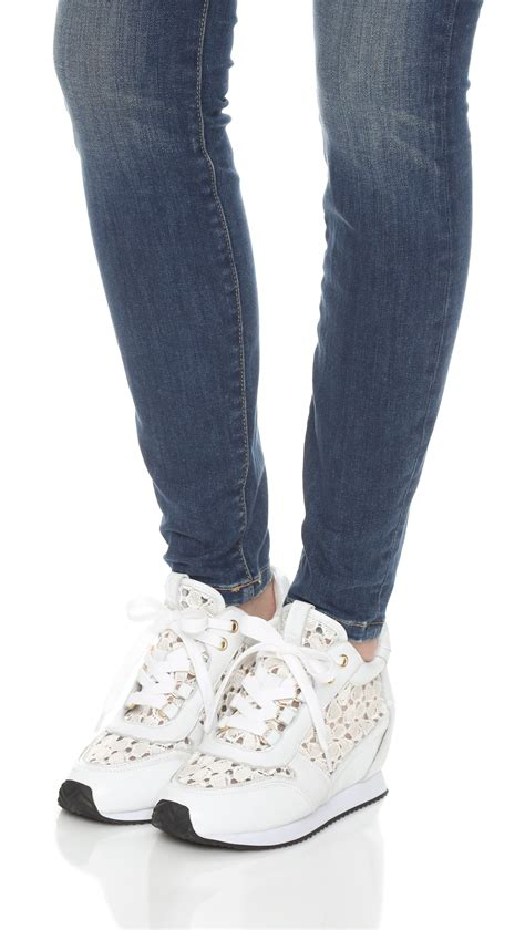 white lace sneakers ash lace sneakers in white lyst