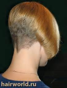 stacked haircut using fork and clipper short inverted bob style w clipper cut nape inverted bob