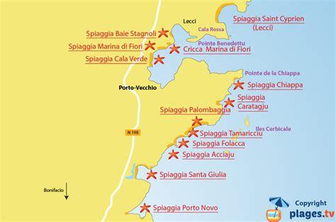 porto vecchio corsica spiagge spiagge porto vecchio francia foto pareri mappa