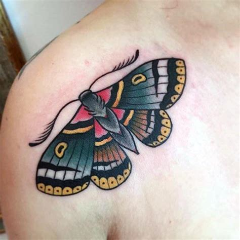 50 traditional moth tattoo designs for men nocturnal