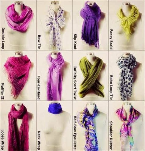 how to wear and neck scarf with new ways of