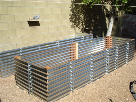 raised vegetable garden beds corrugated iron home