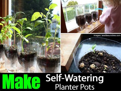 How To Build A Self Watering Planter by How To Make Self Watering Planter Pots