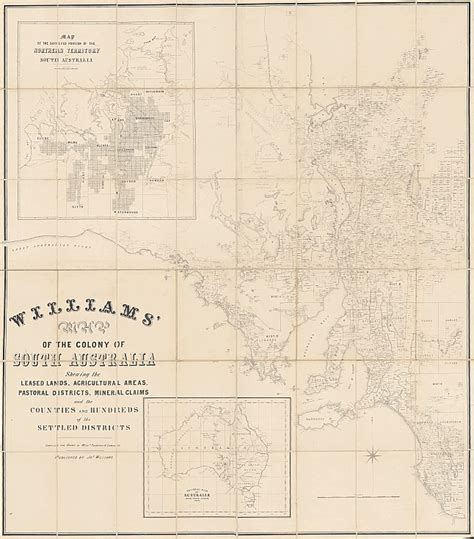 Section Maps South Australia by Historic Williams Map Of South Australia