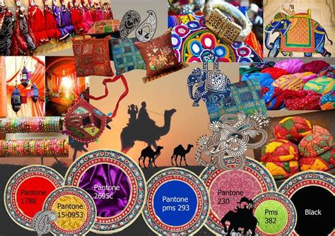 explorers colour board theme rajasthani mood board
