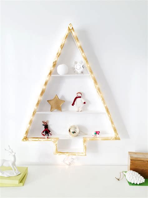 christmas tree alternative diy wall light christmas tree