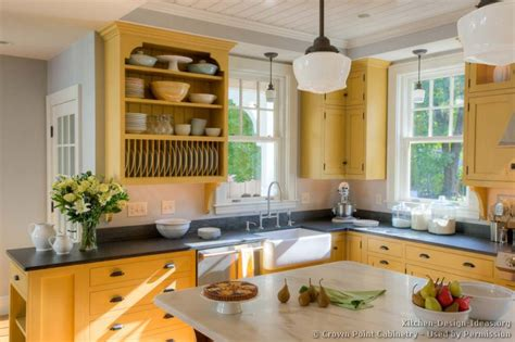 Yellow Cabinets Kitchen Tiny House Interior On Tiny Kitchens Space Saving And Plate Racks