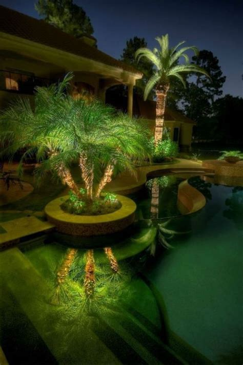 Landscape Lighting For Palm Trees Led Technology Outdoor Lighting And Palm Trees On