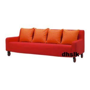 ikea lund valla 3 seat sofa slipcover cover orange