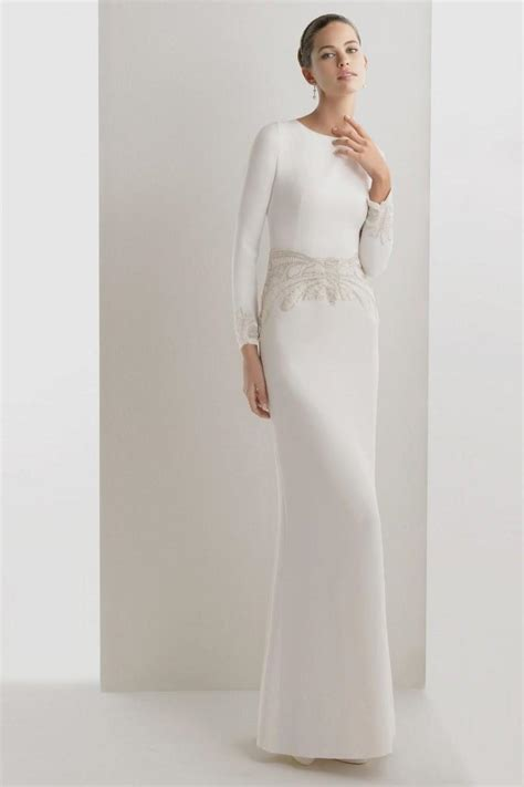 Simple Wedding Dresses Uk by Simple White Dress With Sleeves Naf Dresses
