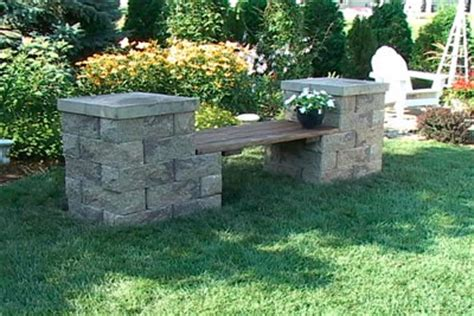 how to build a concrete bench seat rustic wooden stone garden benches