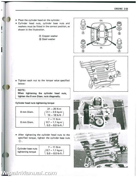 Suzuki Sp200 Parts 1987 1988 Suzuki Dr200 Sp200 Motorcycle Service Manual
