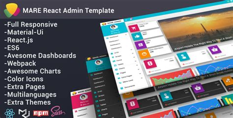 Mare Admin Material React Admin Template By Yellowred Themeforest React Ui Templates