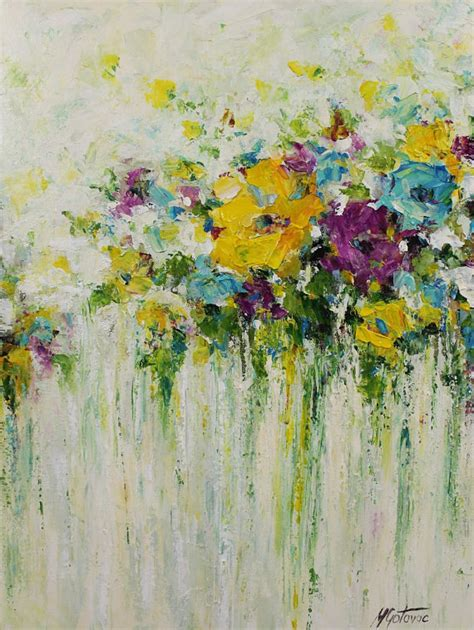acrylic painting lessons flowers acrylic abstract painting flowers painting original by