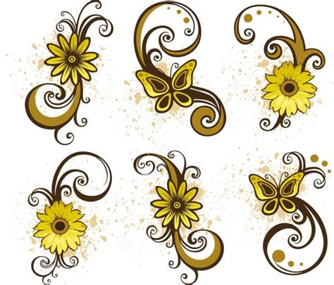 flower tattoo vector free flower vector png cliparts co