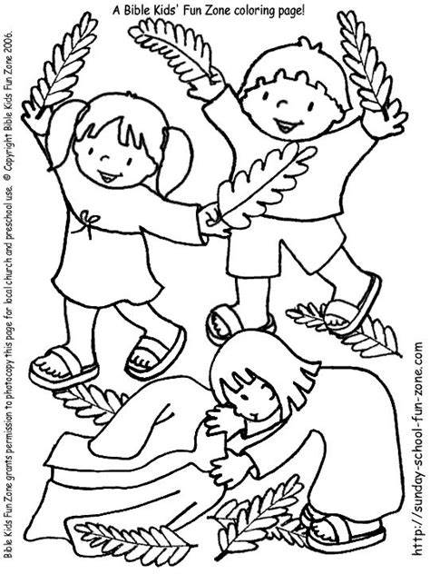 coloring pages palm sunday easter crafts with palm branches coloring