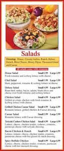 Pasta Sald Salads St Louis Pizza Amp Wings